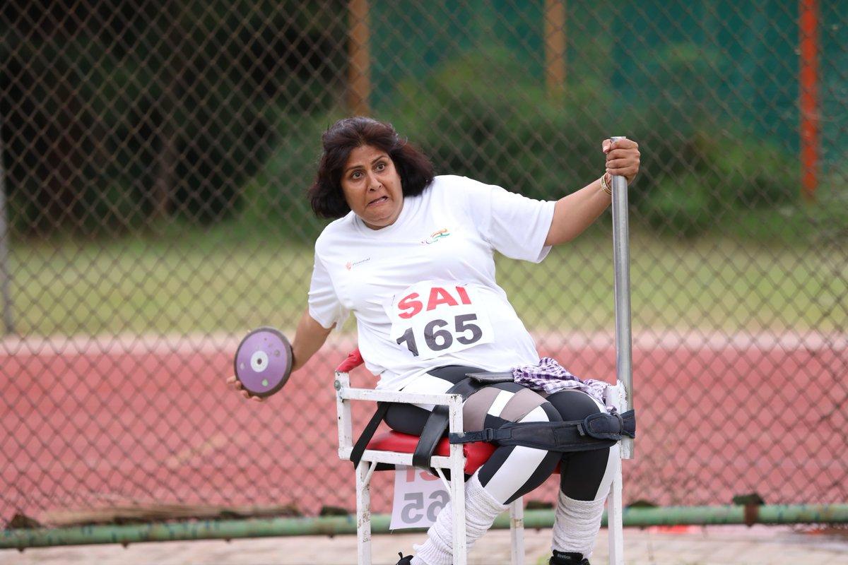 Congratulations : @DeepaAthlete Discus Throw Women F53, threw a distance of 8.89, INDIAN OPEN PARA ATHLETICS CHAMPIONSHIPS 2018, 11th July, at SAI Campus Bengaluru, India @Rao_InderjitS @Ra_THORe @Media_SAI @TCGEHLOT