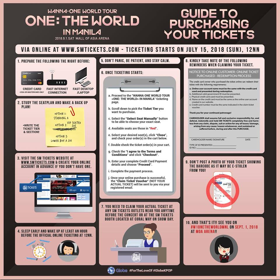 sm tickets on twitter w1onetheworldmnl tickets will be out on