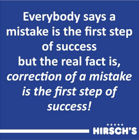 Success is what happens after you have survived all your corrected mistakes - Happy Thursday! #ThursdayThoughts #SuccessMindset Photo