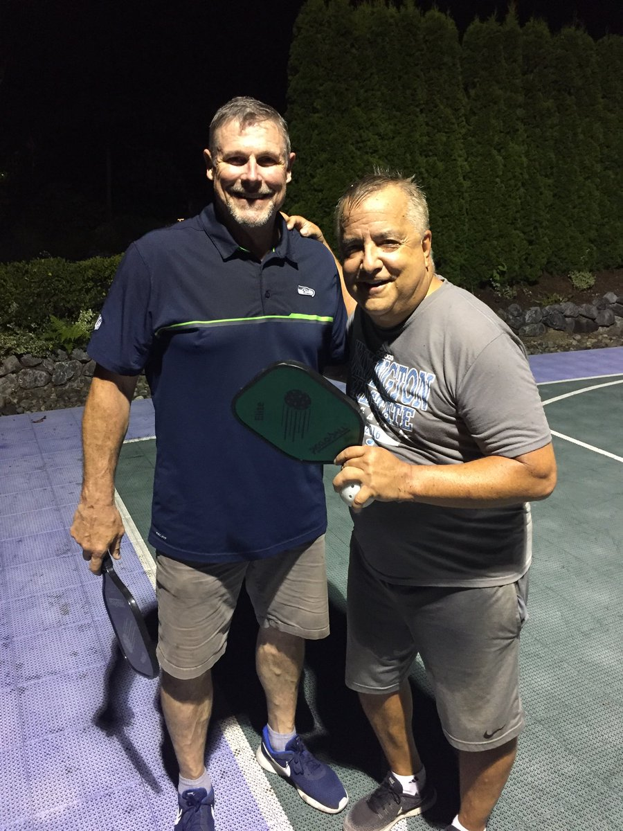 Dori Monson On Twitter On A Beautiful Summer Night Dave Wyman Got Me Two Games To One On My Pickleball Home Court