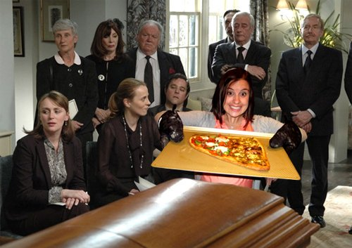 #MyFuneralGotWeirdWhen they played Nickelback after the eulogy and then served pineapple pizza. <br>http://pic.twitter.com/J4cjWy9Wz1