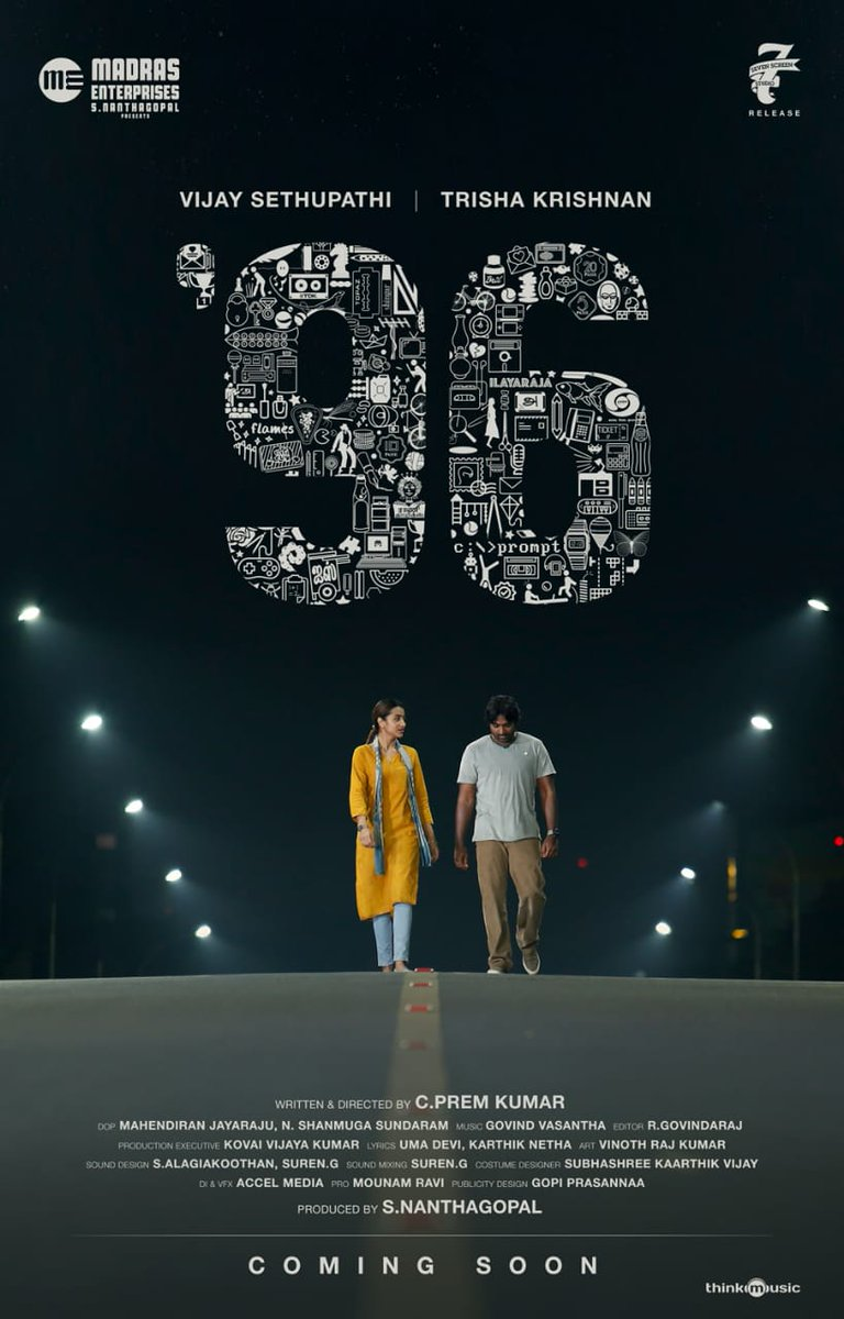 96 movie poster featuring Vijay Sethupathi and Trisha