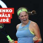 Image for the Tweet beginning: Apsveicam Ostapenko ar iekļūšanu Vimbldonas