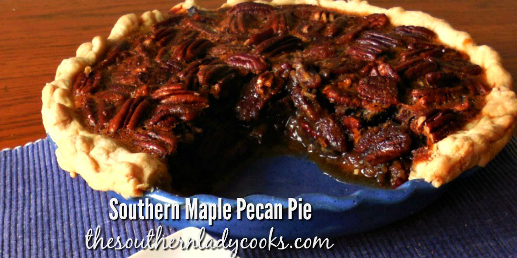 Southern Maple Pecan Pie is wonderful with coffee or as a dessert anytime. Take it to any occasion and you won&#39;t bring any home. #nationalpecanpieday #pecans #Southernfood #dessert #holidays #homemade #maplesyrup #pie  http:// bit.ly/1CXCda4  &nbsp;  <br>http://pic.twitter.com/RbpfpGr82N