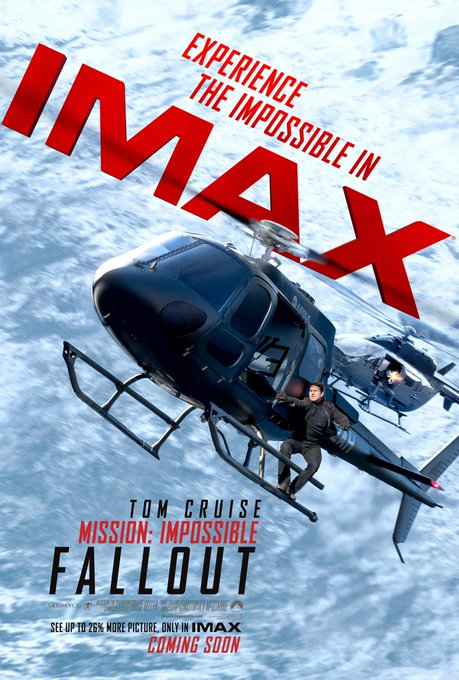 Accept the mission. The impossible plays in our IMAX Theatres July on sale now: #MissionImpossible ภาพถ่าย