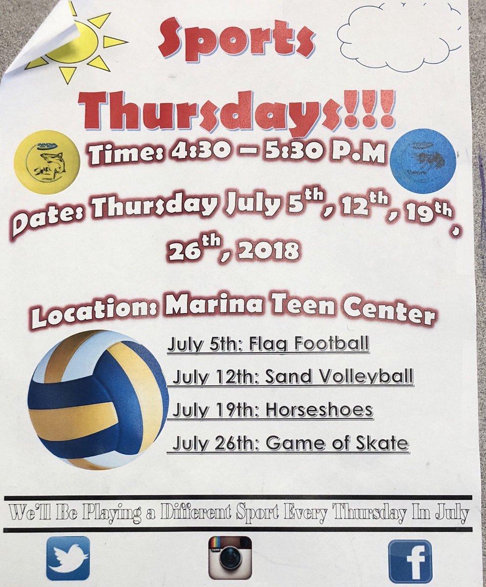 Teen center on thursday 2