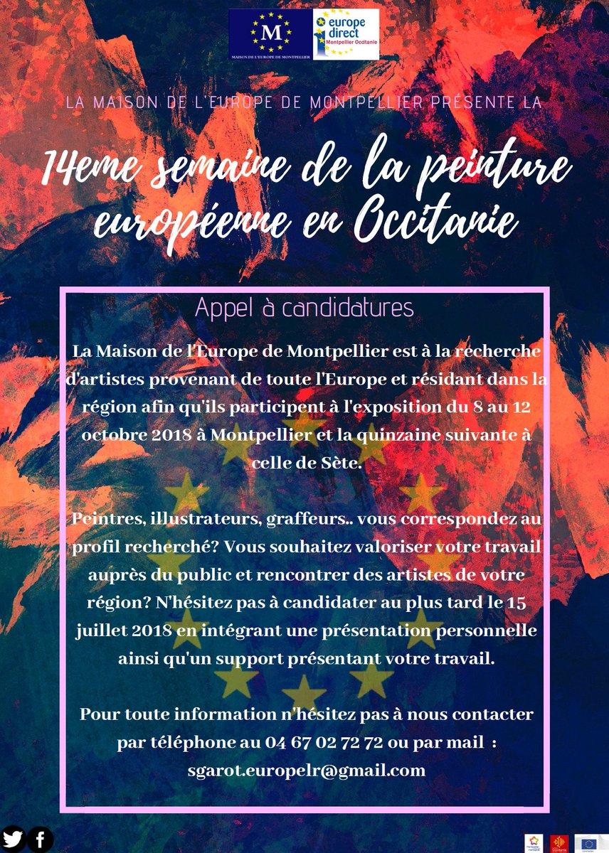 Appel à candidatures  @EuropeMtpOc est à  la recherche d\
