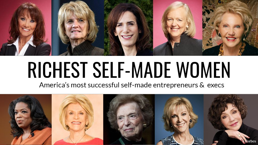 Here are the top 60 Richest Self-Made Women in America https://t.co/owTPkbSHGM #SelfMadeWomen https://t.co/egWtvWWLZx