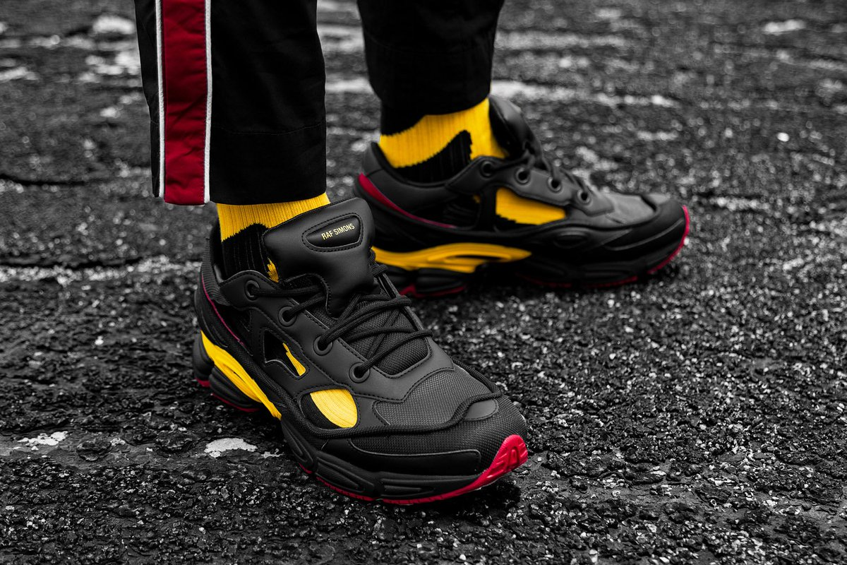 sale retailer cbd11 75c7b The sneaker celebrates the designers birthplace by featuring colors of the  Belgian flag black mesh, gold heel caps and
