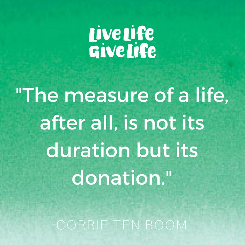 Gift of life donors1 twitter your final act could mean the gift of life for up to 8 people a legacy of generosity and love signupthenspeakup at httplivelifegivelife negle Gallery