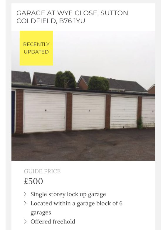 ce601a66c Lock up garage in busy residential housing Estates, Sutton Coldfield to be  offered freehold - Guide £500 #auction #auctionestates #property #freehold  ...