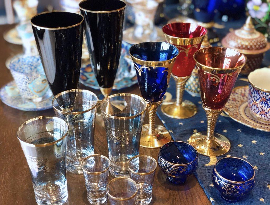 本日は閉店しました、ご来店ありがとうございました。ゴブレット、グラスがたくさん新入荷しています。