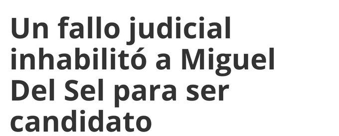 #DolorPais Miguel Del Sel se la paso hablando de corrupción k, ahora es inhabilitado para ejercer política por CORRUPTO! chorro de porquería! Bien cambiemita, bien del gobierno actual #BuenJueves Foto