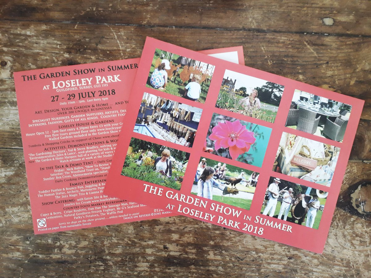 RT @LoseleyGdnShow Everyone should have received our lovely invitations @LoseleyGdnShow @LoseleyPark by now.  If you're  not on our mailing list and would like us to send one out to you then please pm us your address and we shall do so :-)
