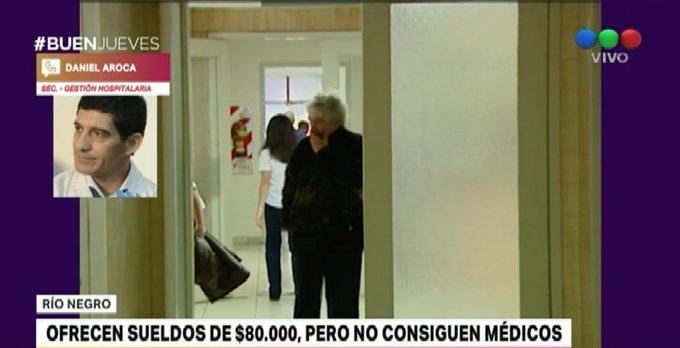 #BuenJueves En Río Negro buscan médicos: ofrecen 80 mil pesos pero no consiguen profesionales. Hablamos con Daniel Aroca, Secretario de Gestión Hospitalaria Foto