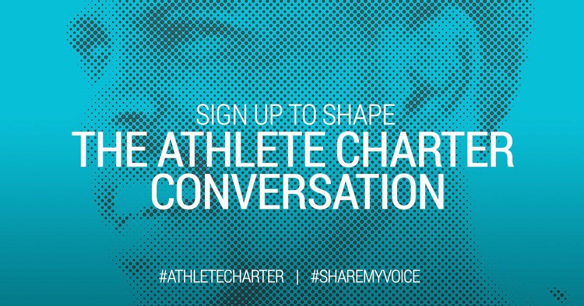 Power to the athletes. #ShareMyVoice #AthleteCharter