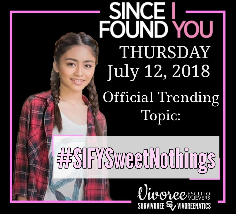 Thursday episode Official trending topic:  #SIFYSweetNothings <br>http://pic.twitter.com/CVcsSc4wpN
