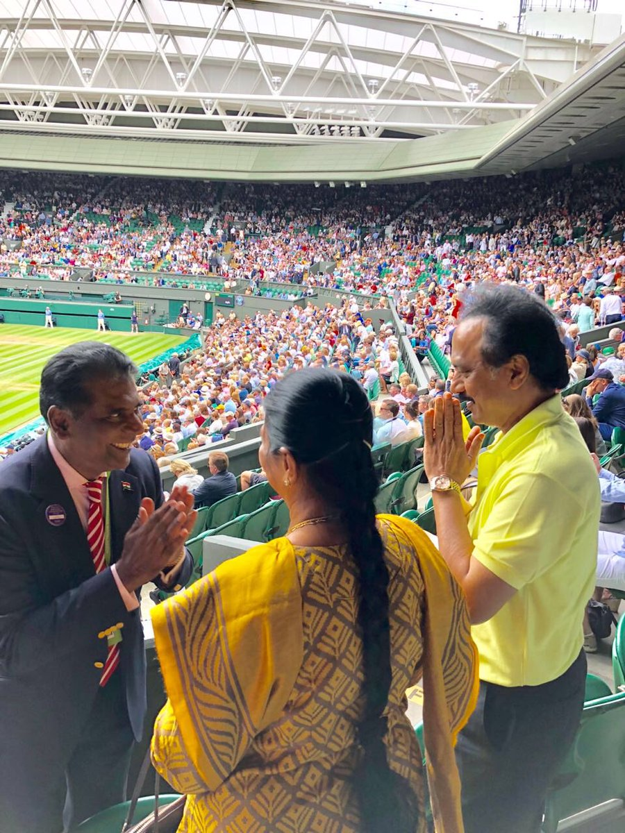 I had the opportunity to watch Wimbledon Lawn Tennis Championships and to meet with Chennai-born tennis legend Vijay Amritraj in London.
