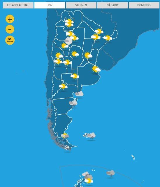 Visitá toda la información meteorológica en #BuenJueves #SMN ☀️🌦️☔️ Foto
