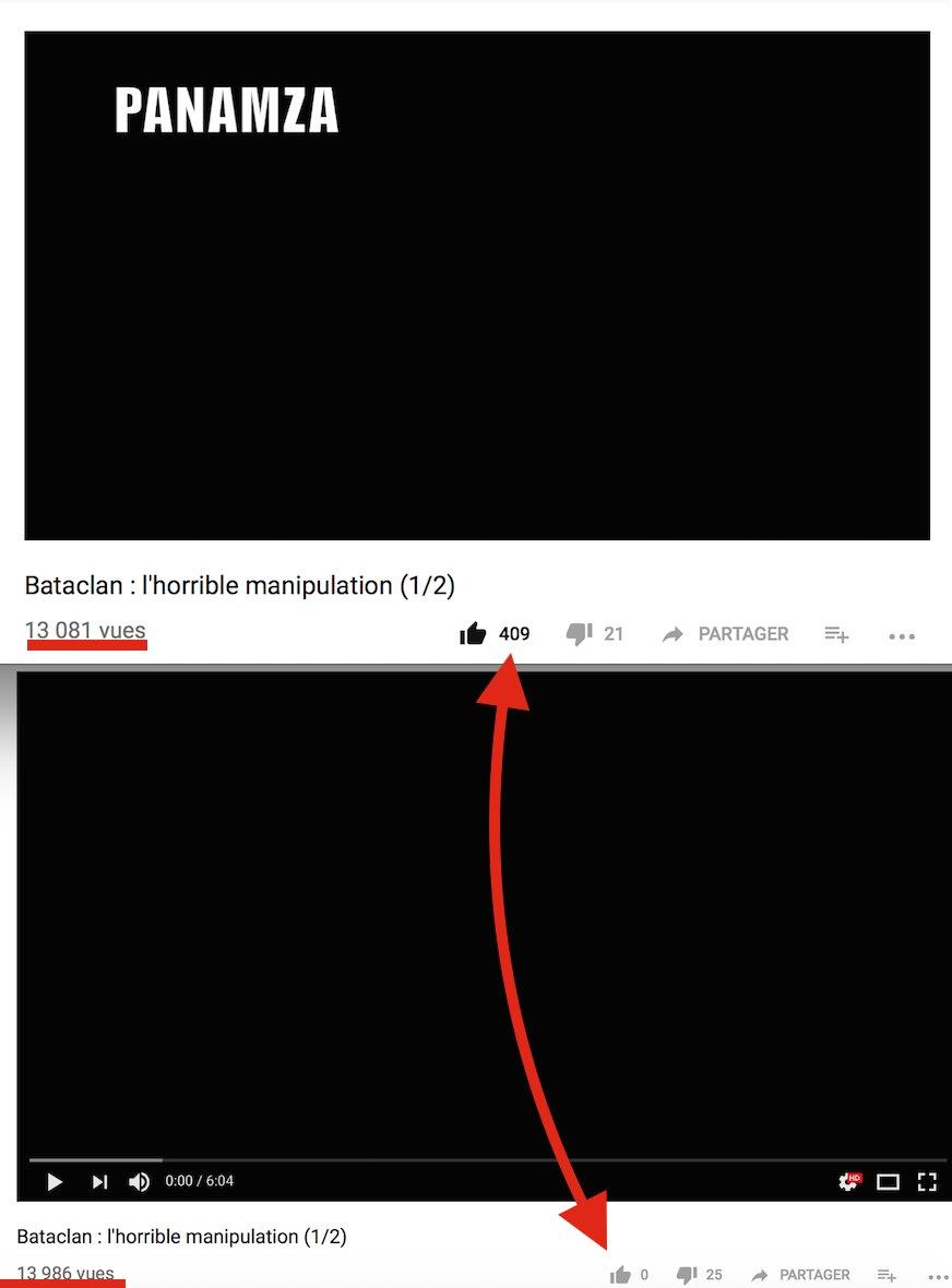 Panamza enquête sur le Bataclan : Youtube panique