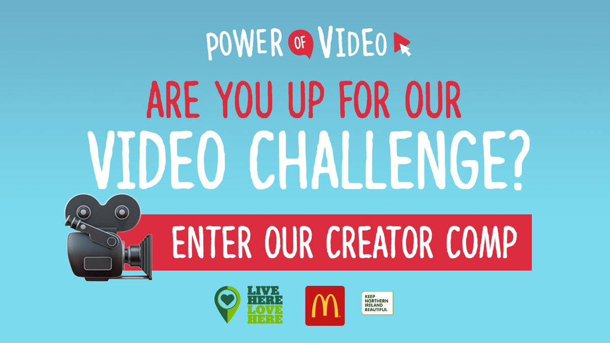 📢CALLING ALL CREATORS & VIDEO MAKERS!🎥 We've teamed up with @McDonaldsUK @KeepNIBeautiful @isupportlhlh to challenge you! Use the power of video 🎥 to create a 1min piece for a chance to win some awesome prizes... read more: https://t.co/mCbxm5xyOg https://t.co/dU3hHRj54i
