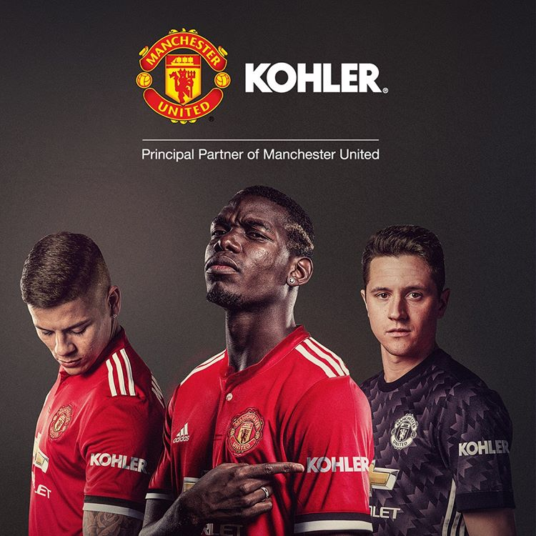1afbec19ef9 Manchester United have announced Kohler as their first ever shirt sleeve  sponsor.  MUFCpic.twitter.com rBSHlVJ50J