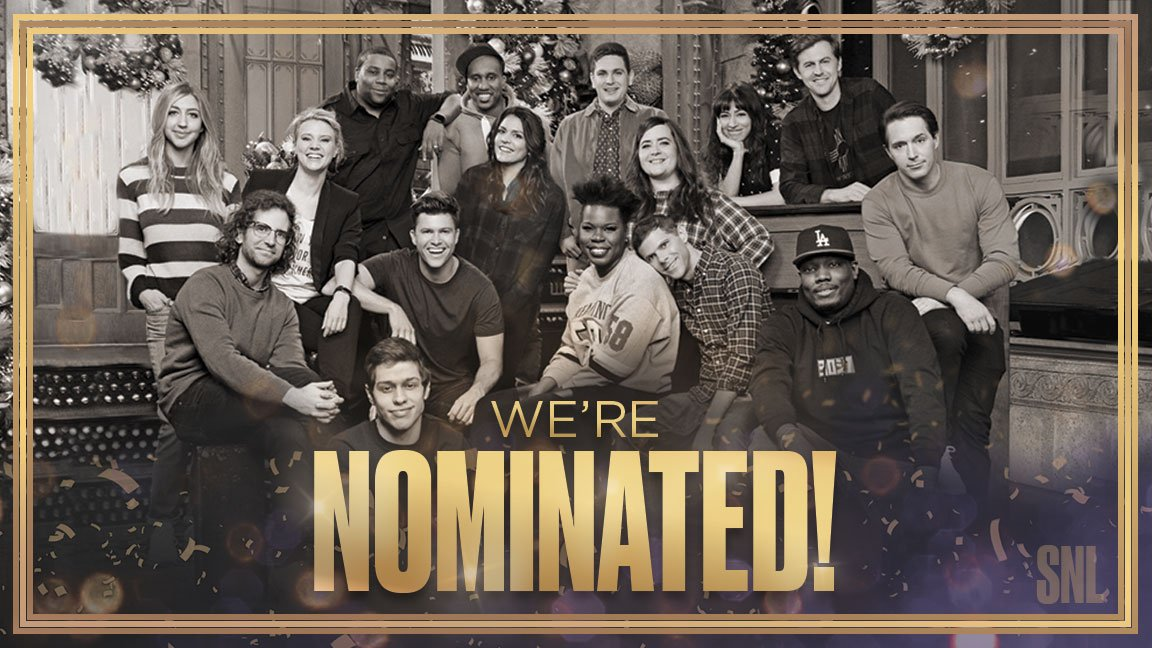 Here we come, #Emmys    Congratulations to the entire #SNL team and thank you to everyone who watched Season 43!<br>http://pic.twitter.com/4KG05UMGGK