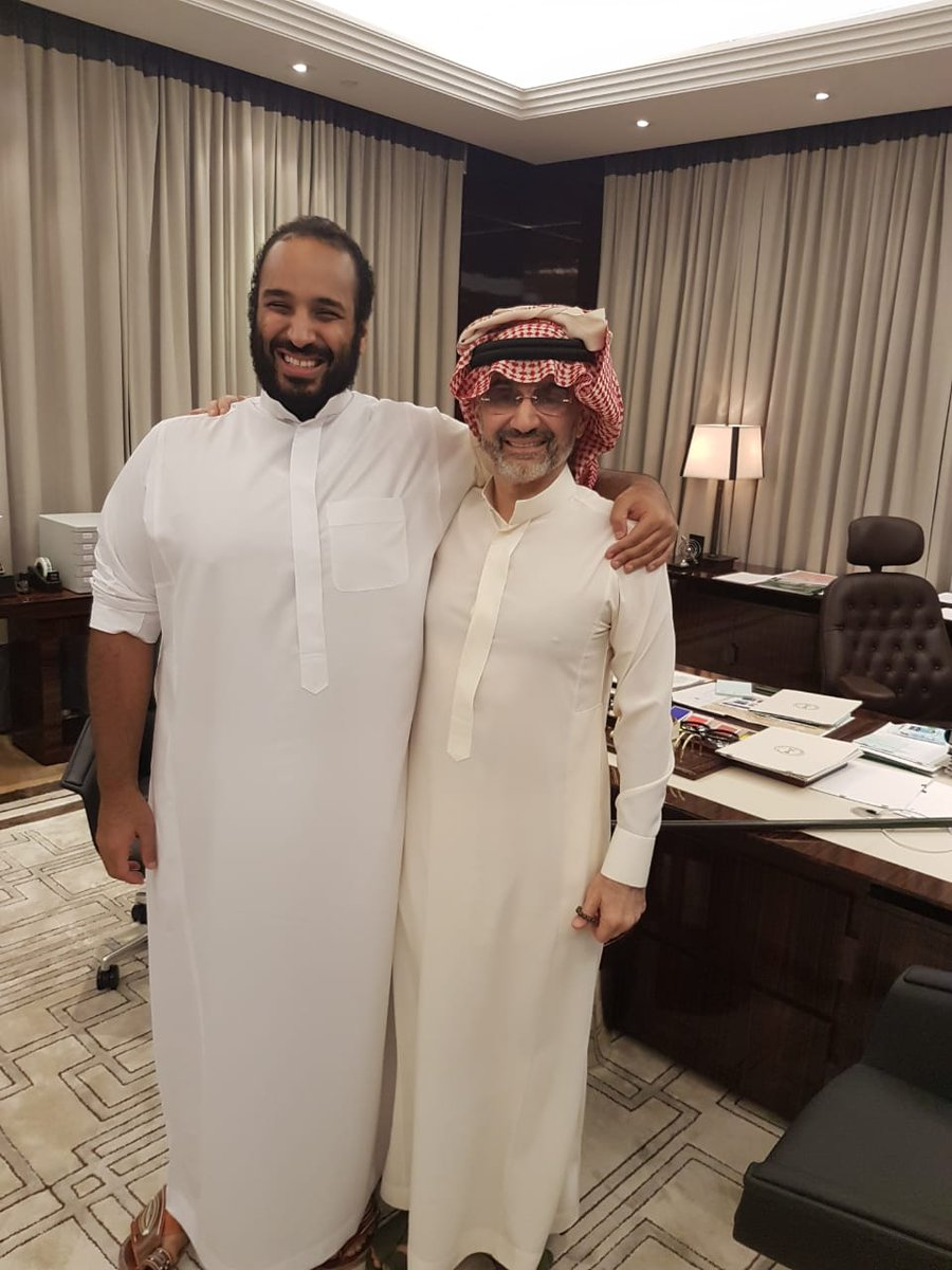 I was honoured to meet with my brother HRH the Crown Prince and to discuss economic matters and the private sector's future & role in #Vision2030 success.  I shall be one of the biggest supporters of the Vision through @Kingdom_KHC & all its affiliates.