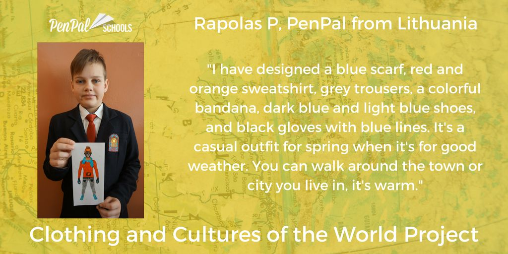 Penpal Schools On Twitter Penpals Like Rapolas From Lithuania Are Making Original Fashion Designs To Reflect Their Interests Daily Life And Communities Check Out More Student Designs At Https T Co Jgvqu5jput Clothing Design