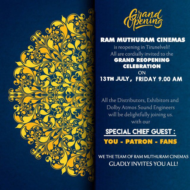 Ram Muthuram Cinemas on Twitter: