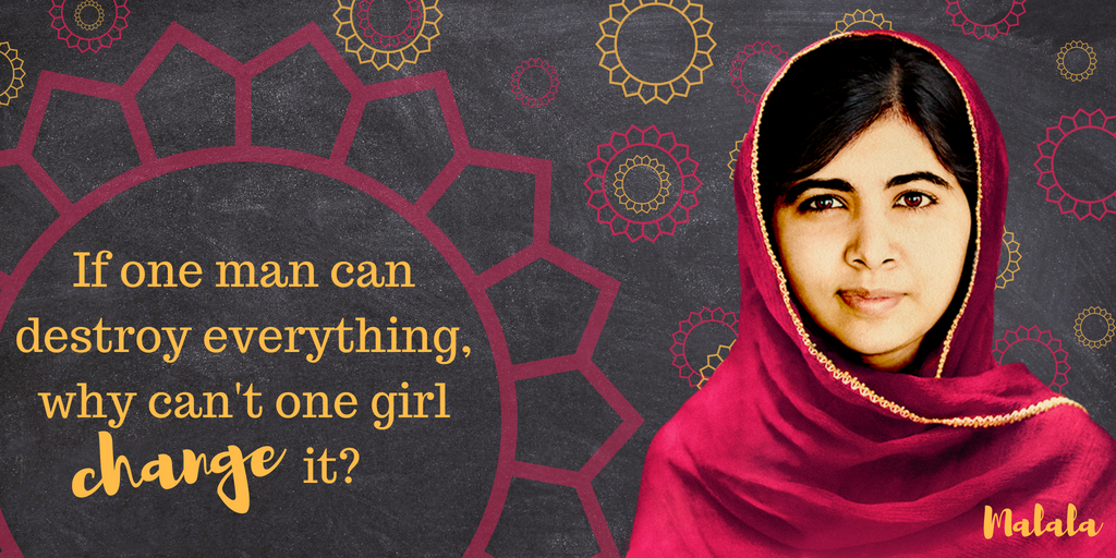🎉Happy birthday @Malala!🎉 Thank you for speaking up for girls rights to education and gender equality around the world. #MalalaDay