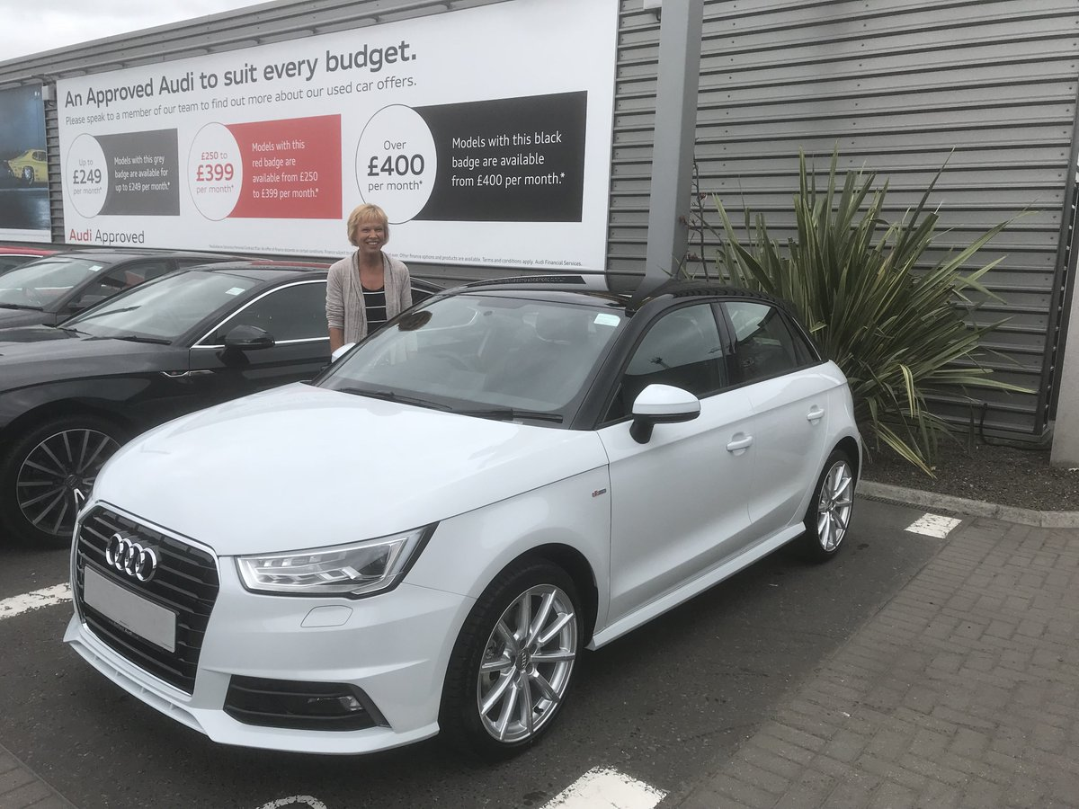 Ni Audi On Twitter Congratulations To Olwyn Guy On Collecting Her Brand New S Line Audi A1 Sportback In Glacier White With Contrasting Black Roof From Sales Executive Christopher Crawford Health To Drive
