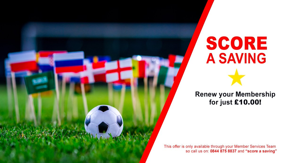 ‼️ FLASH OFFER ‼️ ⭐️ Dont forget... To celebrate how far England came in this years World Cup, we are offering renewals and new Membership for JUST £10 only for TODAY! Call 01234 762211 NOW! Offer ends 4pm, 12th July