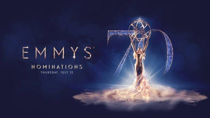 Suivez en direct à 17:20 les nominations de la 70ème cérémonie des #Emmys du la page Facebook de @serieclub > Photo