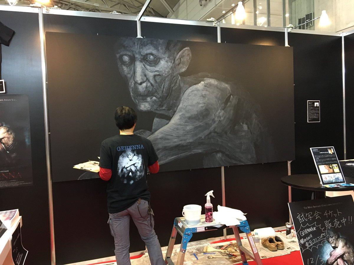 @MitsuhiroArita 有田さん! #東京コミコン での上映の際にも素晴らしい絵を描いていただいて、本当にありがとうございました😳✨ こうしてまた描いていただけるだなんて、、楽しみにしております🧟♀️🧟♂️