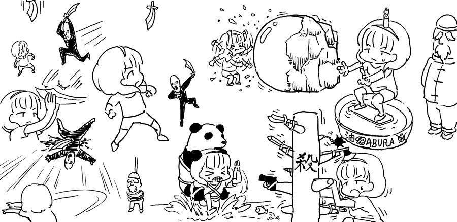 夏コミ原稿で描いた佐久間まゆが中国で修行しているところです