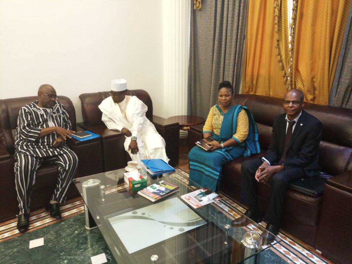 Le Secrétaire Exécutif du #cilss, accompagné de M. Jacob Ouedraogo Ministre de l\