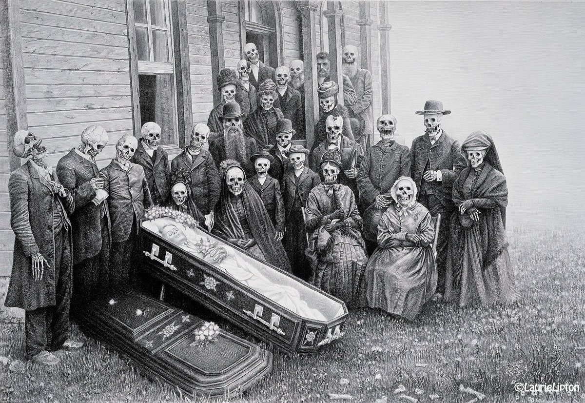 #MyFuneralGotWeirdWhen the relatives showed up (&quot;FAMILY REUNION 2005&quot;, #charcoal &amp; #Pencildrawing on paper, 26&quot;x38&quot;) #ThursdayThoughts #ThrowbackThursday #drawingwhilefemale<br>http://pic.twitter.com/cggedUpC94