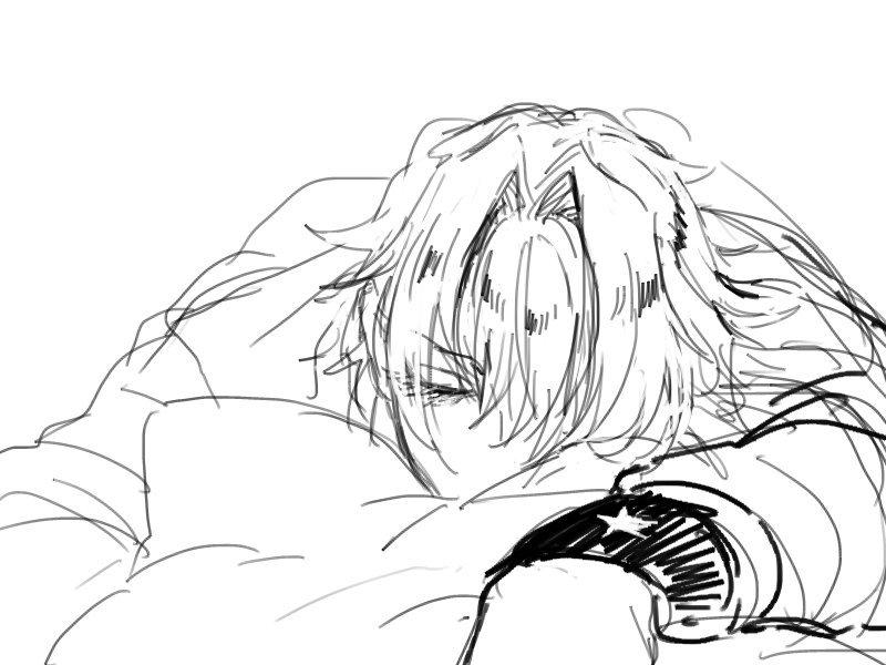 #今まで描いた中でも厳選カワイイ牙崎漣を晒してください 寝てる牙崎かわいいって言ってもらった!!