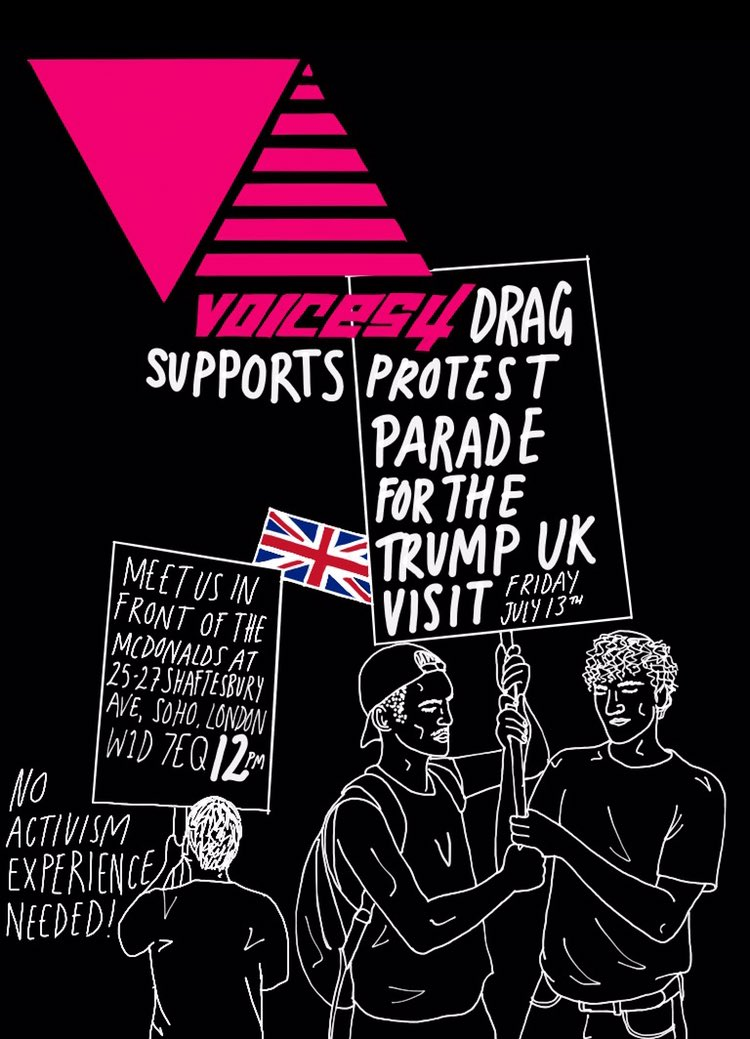 Come along, everyone welcome!! #TrumpUKVisit @voices4_