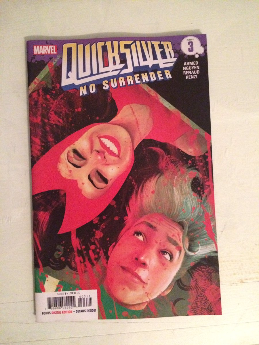 Oh @saladinahmed, how your books speak to my heart. Pick up QUICKSILVER, folks. You wont regret it #comics #NCBD #NewComicBookDay #Marvel