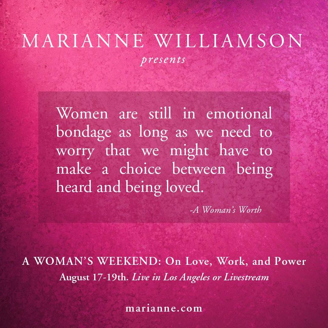 From My Book A Womans Worth Join Me In LA Or On Livestream Aug 17 19 Womanhoodnowevent Pictwitter Khx5Rr6Nl9