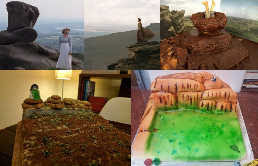 For 40 points, we challenged you to recreate this famous Pride &amp; Prejudice scene, which extensive research revealed to be Stanage Edge in 2005, and Ramshaw Rocks in 1995....Not many entries for this one, but they were all fabulous #geobakeoff <br>http://pic.twitter.com/rbyr5fkvok