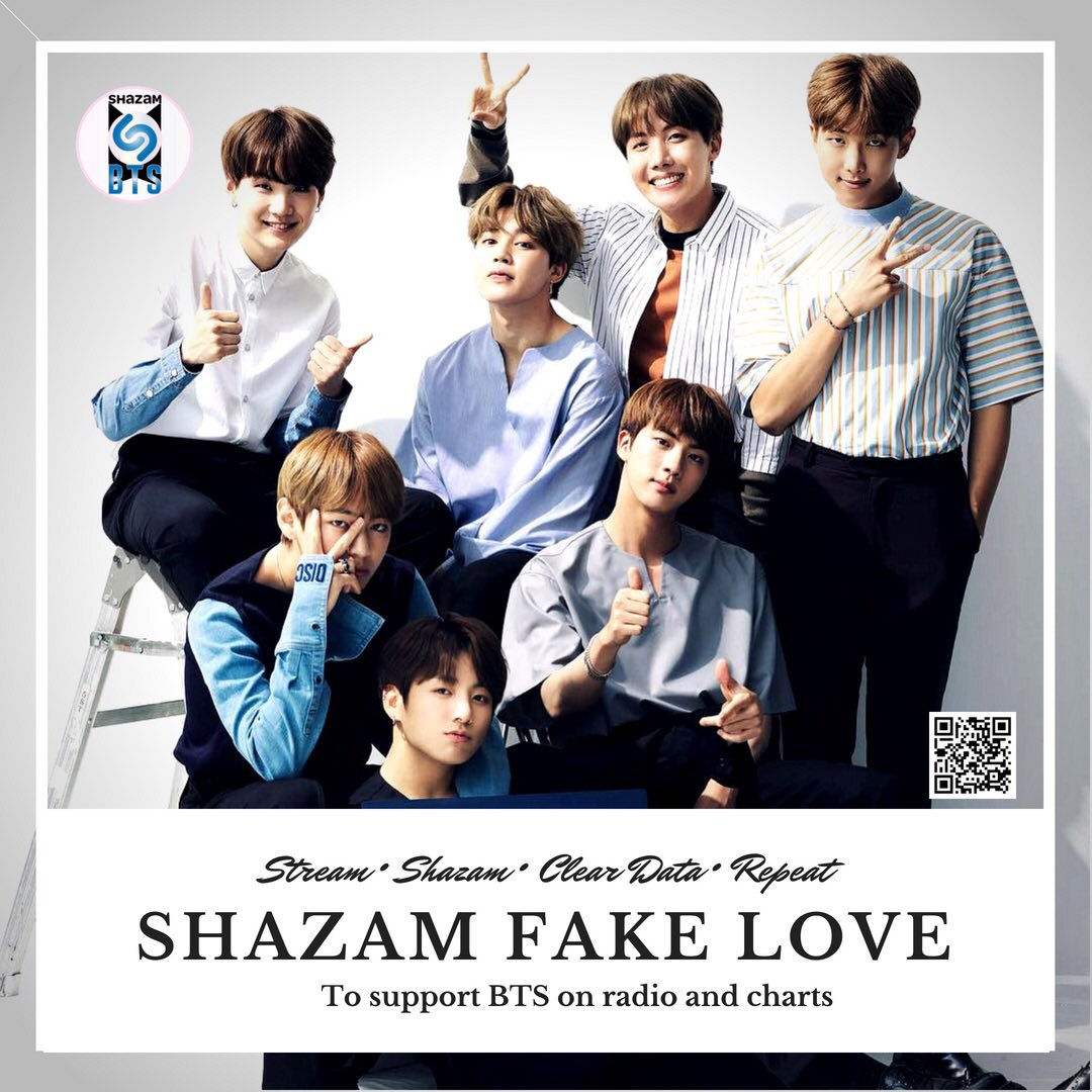 Team Stars,  let's keep increasing our Shazams for Fake Love to help increase radio airplay!    Radio airplay introduces @BTS_twt to more listeners &amp; helps with chart success!   #ShazamFakeLove daily &amp; make sure to clear data after every Shazam!  #LYTearPureMillionSeller <br>http://pic.twitter.com/NJjI9Oprjl