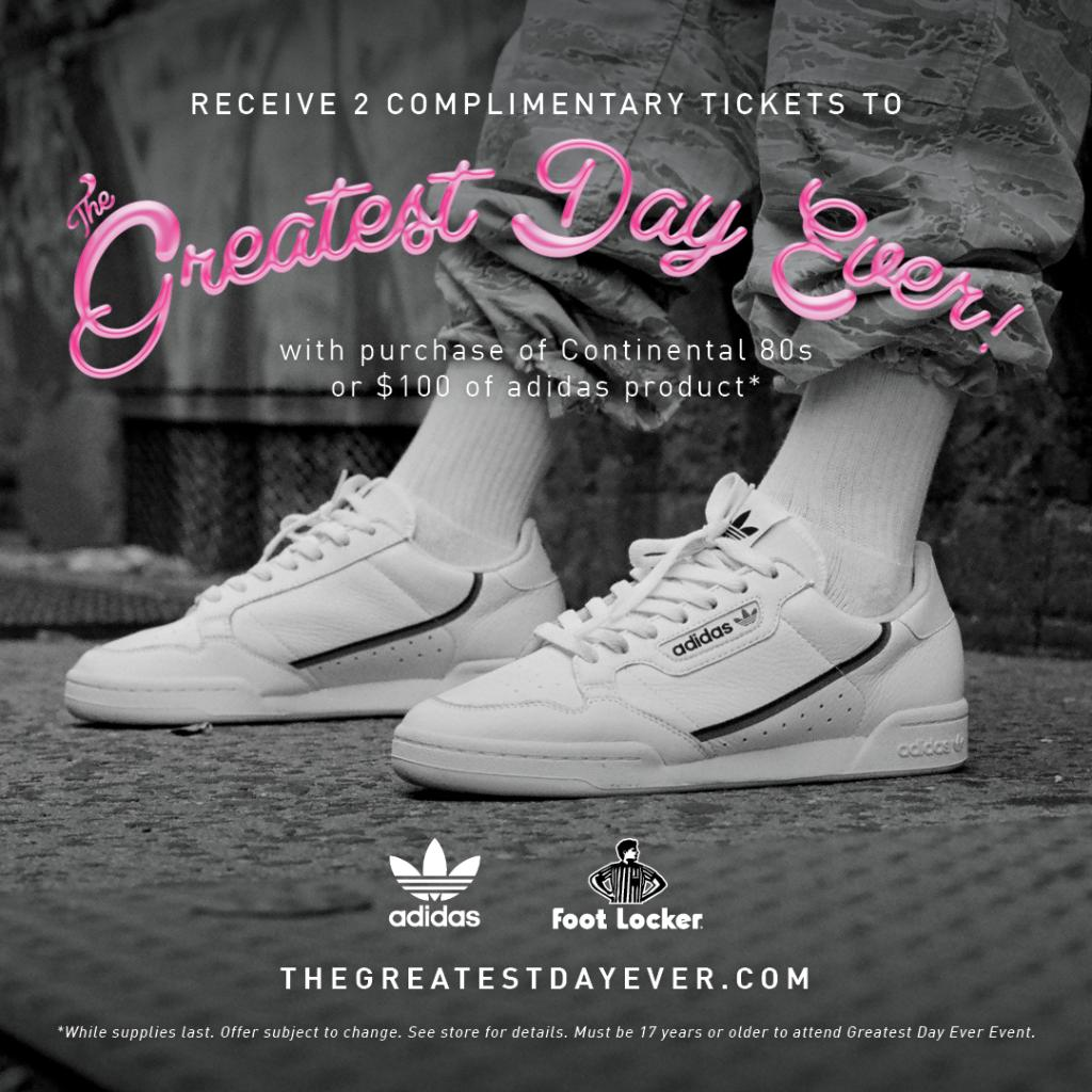 b1bf64b1575 ... at Foot Locker 34th and Times Square! GO NOW! What a great day! 🎡🎟  Receive two complimentary tickets to The Greatest Day Ever