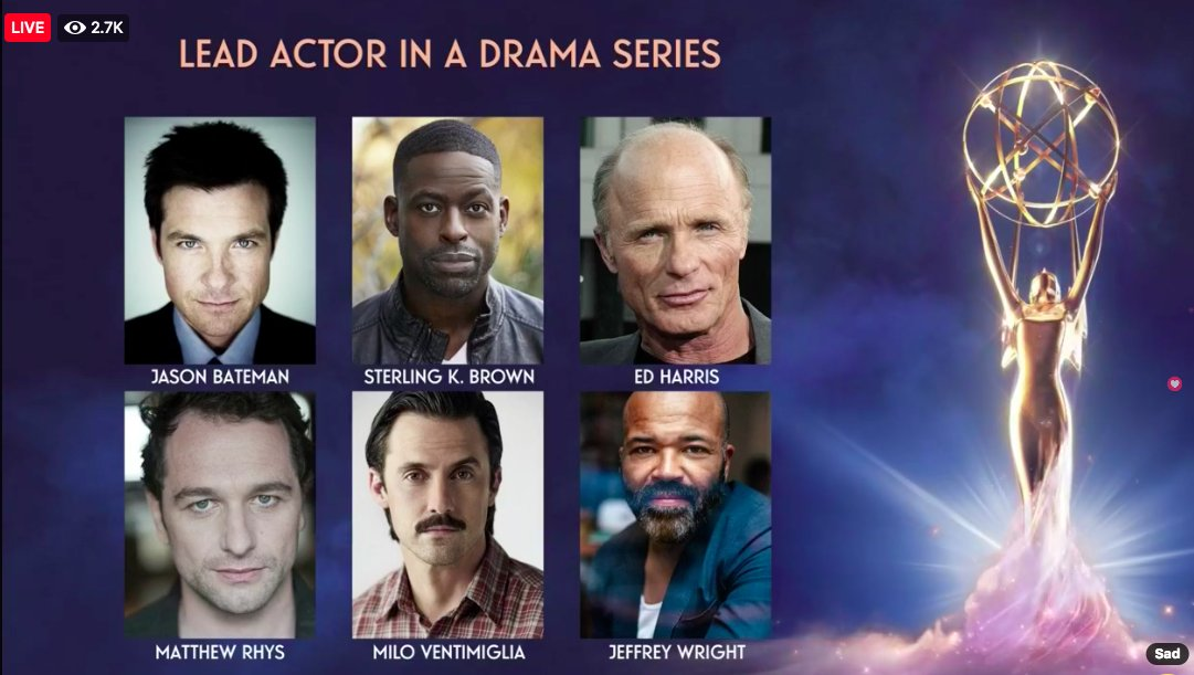 Resultado de imagem para emmy 2018 nominations actor drama series