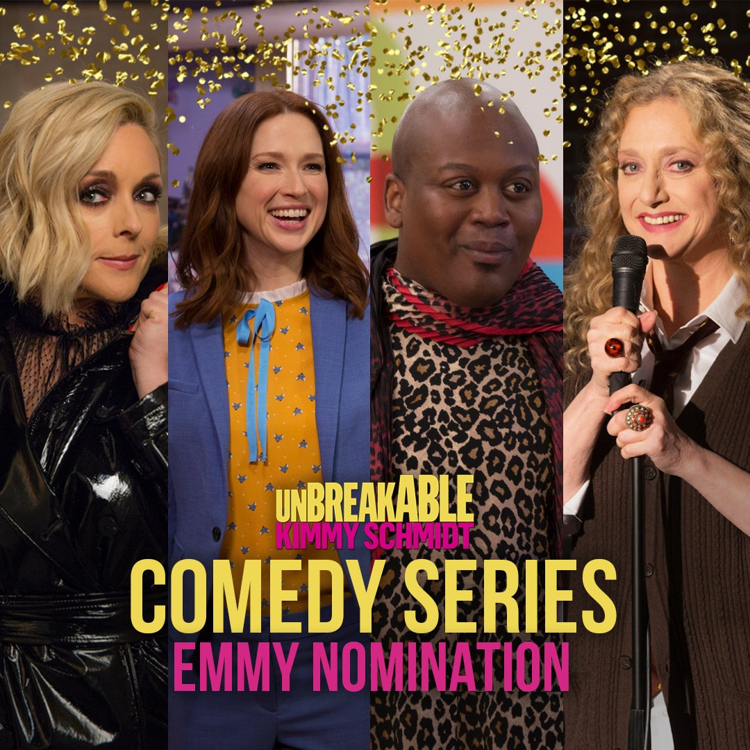 Pinot noir all round! Unbreakable Kimmy Schmidt is nominated for Outstanding Comedy Series at the #Emmys! <br>http://pic.twitter.com/9KKCCmyuUo