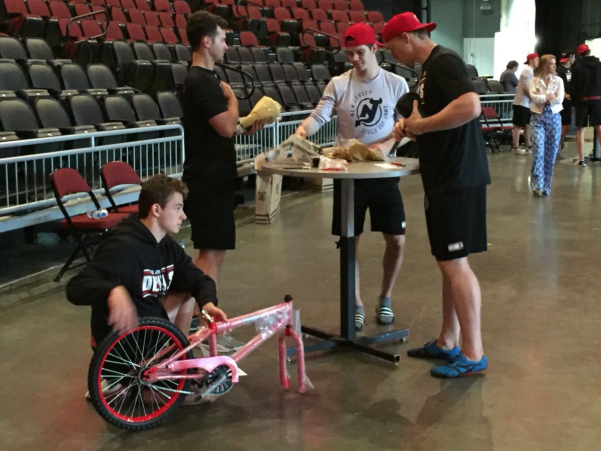 Time for the guys to build 🚲 for the Newark Beth Israel Medical Center and the Children's Hospital of New Jersey. #NJDevCamp