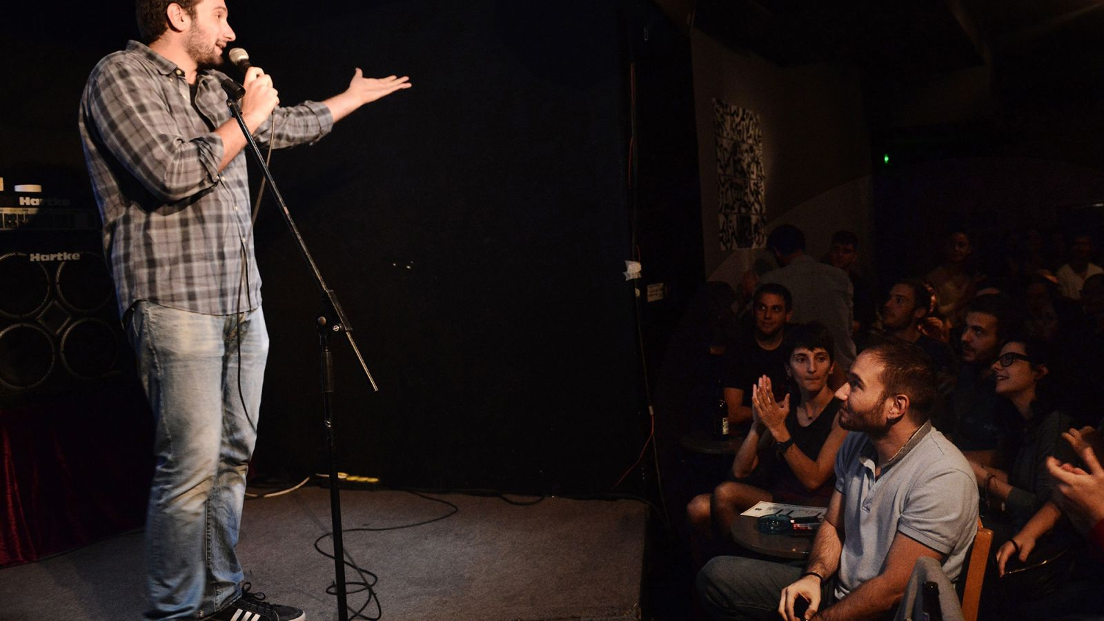 Open Mic Host Asks Audience To Keep Pathetic Smattering Of Applause Going For Next Performer https://t.co/z2XjI3RAxm https://t.co/z7nQRjTUAr