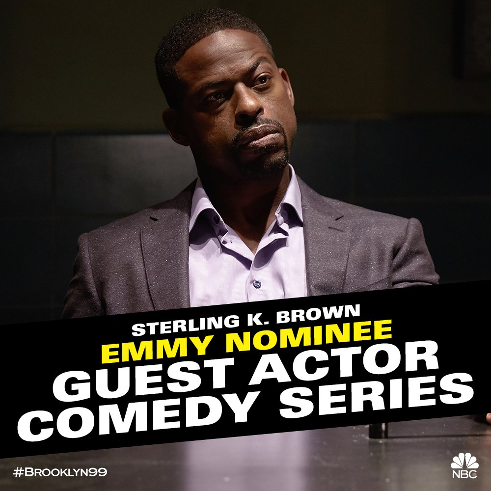 OH DAMN! Congrats to @SterlingKBrown on his Guest Actor in a Comedy Series #Emmys nomination! #Brooklyn99<br>http://pic.twitter.com/4ZwyPrN3zn